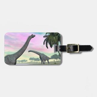 Brachiosaurus dinosaurs in nature - 3D render Luggage Tag