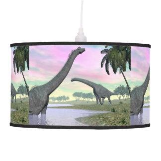 Brachiosaurus dinosaurs in nature - 3D render Pendant Lamp