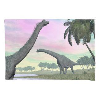 Brachiosaurus dinosaurs in nature - 3D render Pillowcase