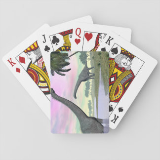 Brachiosaurus dinosaurs in nature - 3D render Playing Cards
