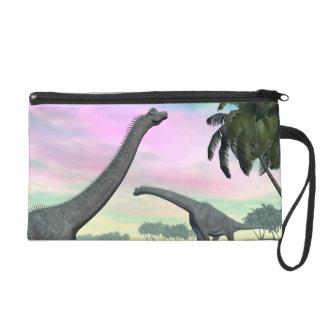 Brachiosaurus dinosaurs in nature - 3D render Wristlet