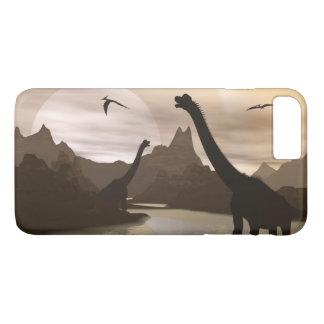 Brachiosaurus dinosaurs in water - 3D render iPhone 8 Plus/7 Plus Case