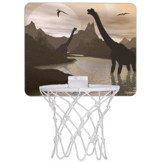 Brachiosaurus dinosaurs in water - 3D render Mini Basketball Hoop