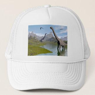 Brachiosaurus dinosaurs in water - 3D render Trucker Hat