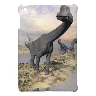 Brachiosaurus dinosaurs near water - 3D render iPad Mini Cover