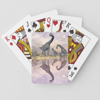 Brachiosaurus dinosaurs near water - 3D render Playing Cards