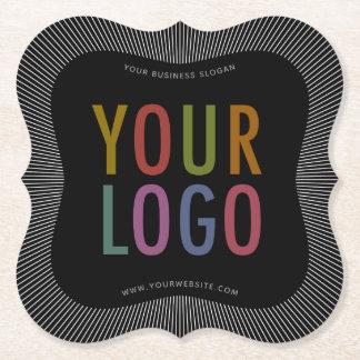 Bracket Custom Paper Coasters with Company Logo