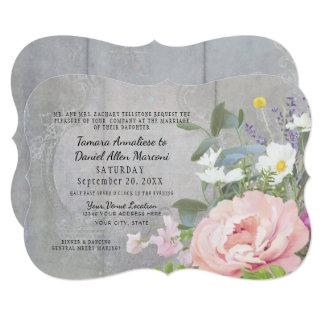 Bracket Elegant Floral Rustic Wood Peony Vintage Card