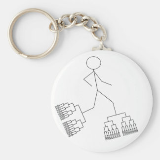Bracket Man Keychain