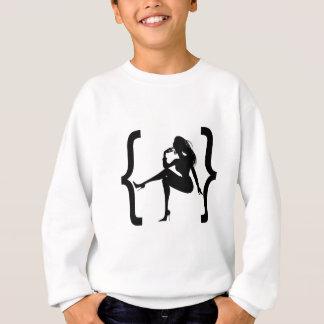 Bracket with a girl shadow sweatshirt
