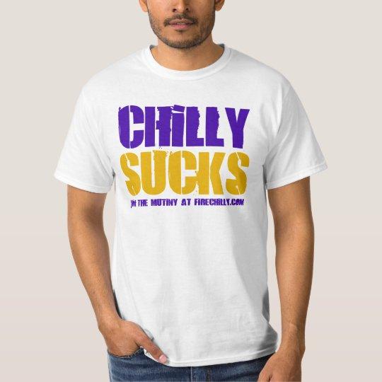 """Brad Childress """"Chilly Sucks"""" Tee"""