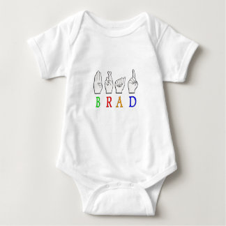 BRAD FINGGERSPELLED ASL NAME SIGN DEAF BABY BODYSUIT