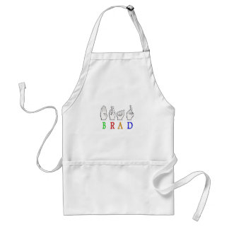BRAD FINGGERSPELLED ASL NAME SIGN DEAF STANDARD APRON