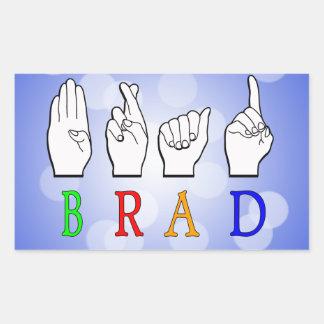 BRAD FINGGERSPELLED ASL NAME SIGN DEAF STICKER
