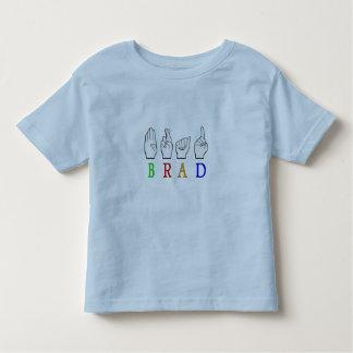 BRAD FINGGERSPELLED ASL NAME SIGN DEAF TODDLER T-SHIRT
