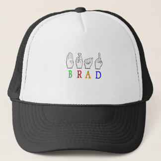BRAD FINGGERSPELLED ASL NAME SIGN DEAF TRUCKER HAT