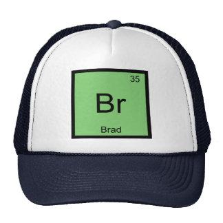 Brad Name Chemistry Element Periodic Table Trucker Hat