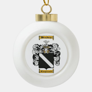 Braden Ceramic Ball Christmas Ornament