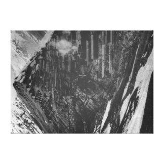 Braden Copper Mines in Chili Photograph Canvas Print