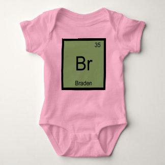 Braden Name Chemistry Element Periodic Table Baby Bodysuit