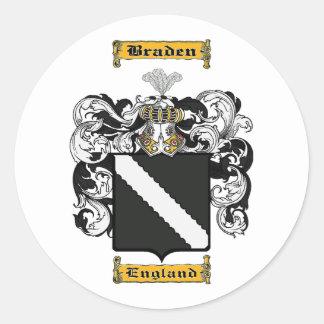 Braden Round Sticker