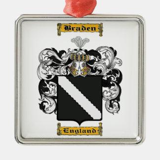Braden Silver-Colored Square Ornament