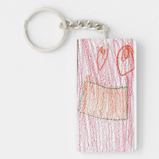 Braden Single-Sided Rectangular Acrylic Keychain