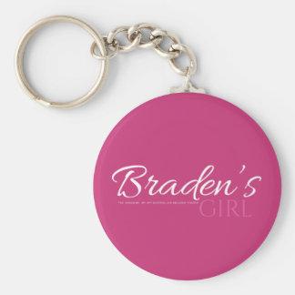 Bradens Girl Keychain