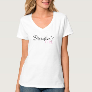 Braden's Girl V Neck Tshirt in Black and Pink