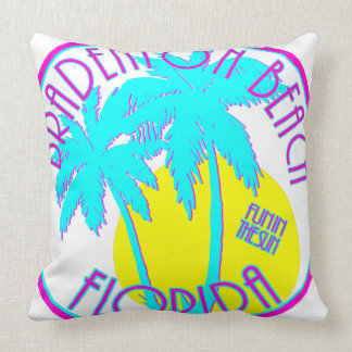 Bradenton Beach Florida Throw Pillow