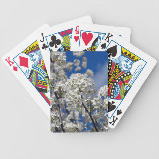 Bradford Pear Blooms Bicycle Playing Cards
