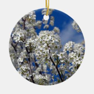 Bradford Pear Blooms Ceramic Ornament