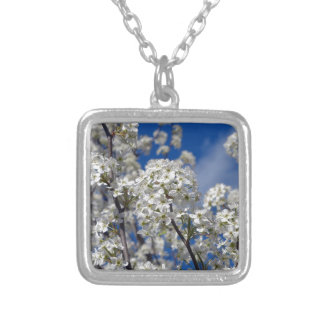 Bradford Pear Blooms Silver Plated Necklace