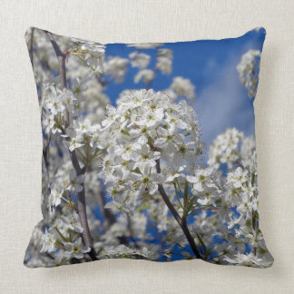 Bradford Pear Blooms Throw Pillow