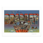 Bradley Beach, New Jersey - Large Letter Scenes Postcard