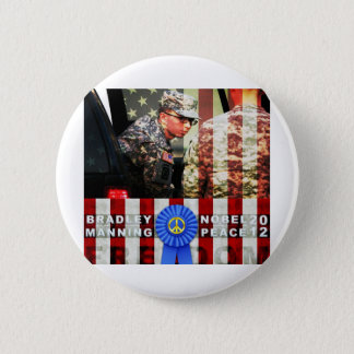 Bradley Manning for Nobel Peace Prize 2 Inch Round Button