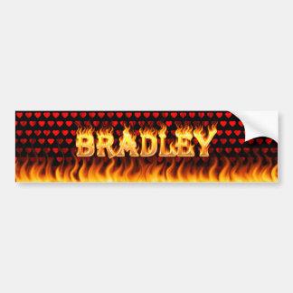 Bradley real fire and flames bumper sticker design