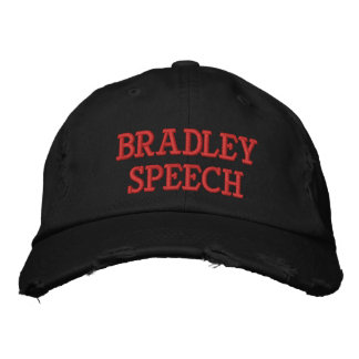Bradley Speech Distressed Baseball Cap