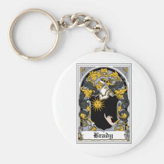 Brady Family Crest Keychain
