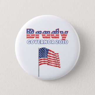 Brady Patriotic American Flag 2010 Elections 2 Inch Round Button