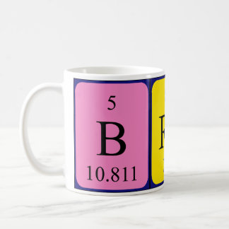 Brady periodic table name mug