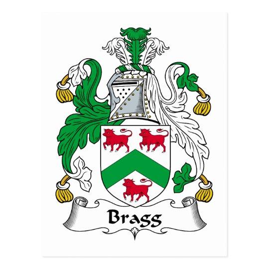 Bragg Family Crest Postcard