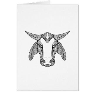 Brahma Bull Head Mandala Card