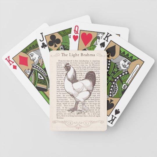 Brahma Chicken Breeder Enthusiast Vintage Farmer Poker Deck