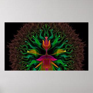 Brahma Disguised as a Tulip Print