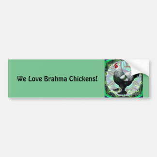 Brahma:  Fancy Dark Rooster Bumper Sticker