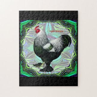 Brahma:  Fancy Dark Rooster Jigsaw Puzzle