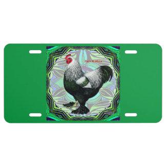 Brahma:  Fancy Dark Rooster License Plate