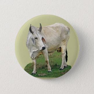 Brahman Cattle 2 Inch Round Button