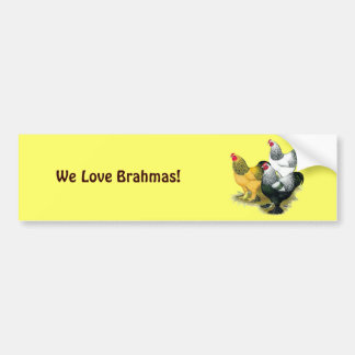 Brahmas Three Roosters Bumper Sticker